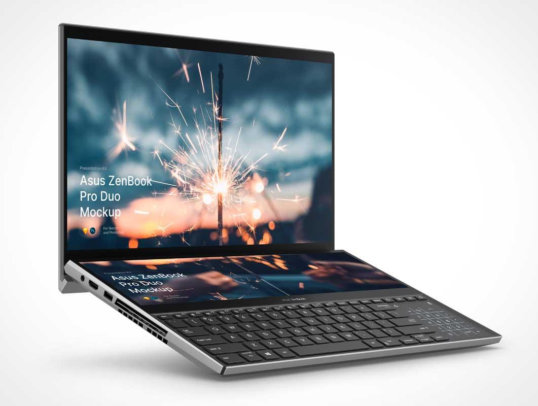 ZenBook Pro Laptop PSD Mockup