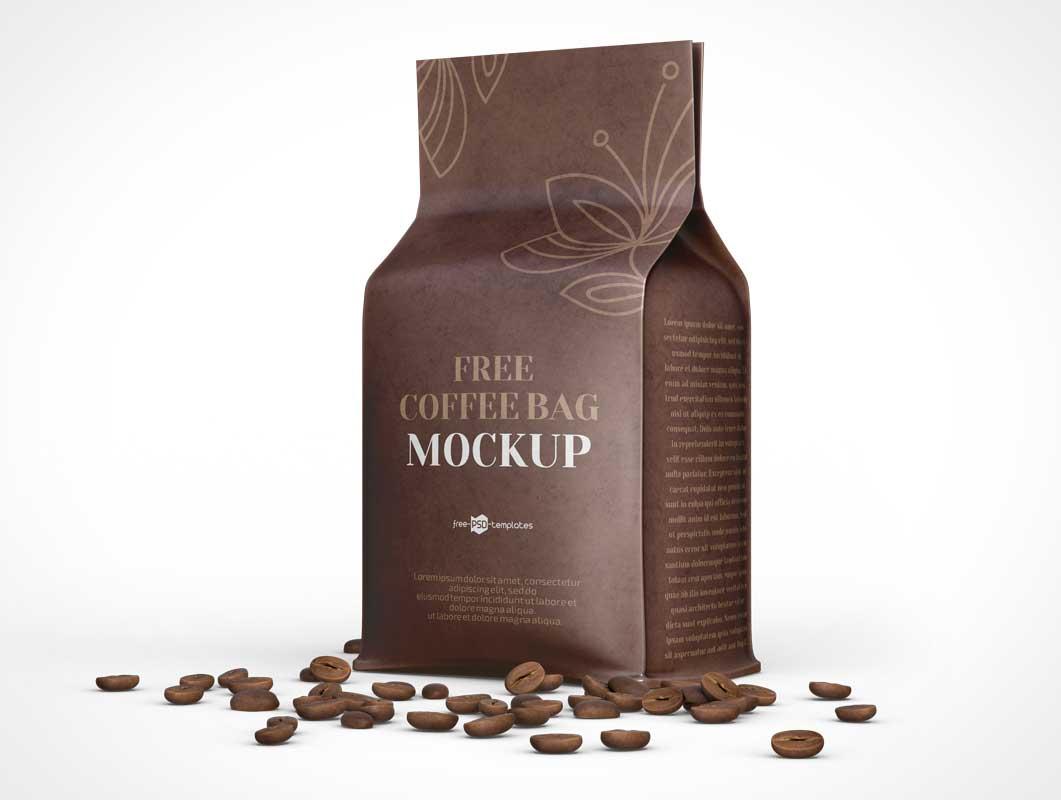 Coffee Bean Bag PSD Mockup