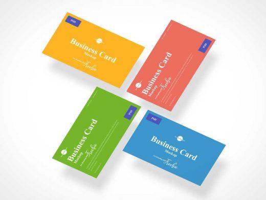 Business Card Branding Spiral PSD Mockup