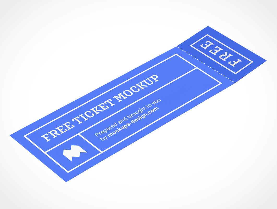 Event Ticket & Stub PSD Mockup