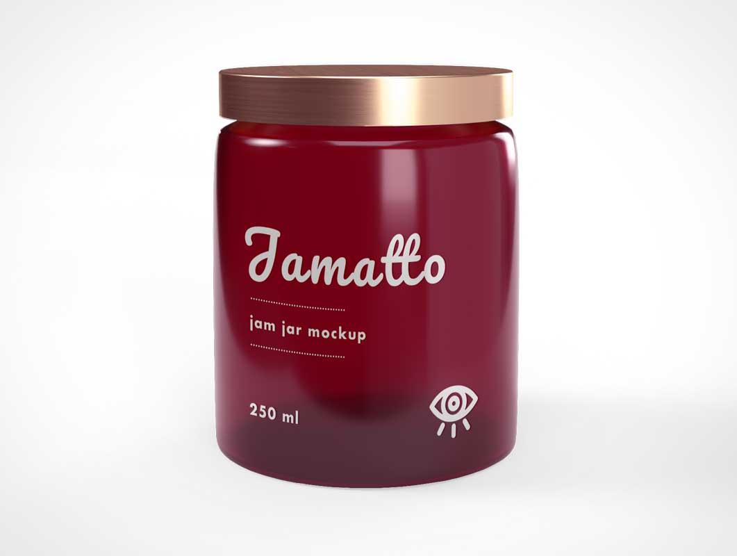 Glass Jelly Jam Jar PSD Mockup