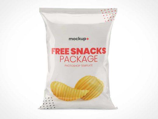 Glossy Foil Chip Bag PSD Mockup