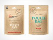 Kraft Paper Sachet Packaging PSD Mockup