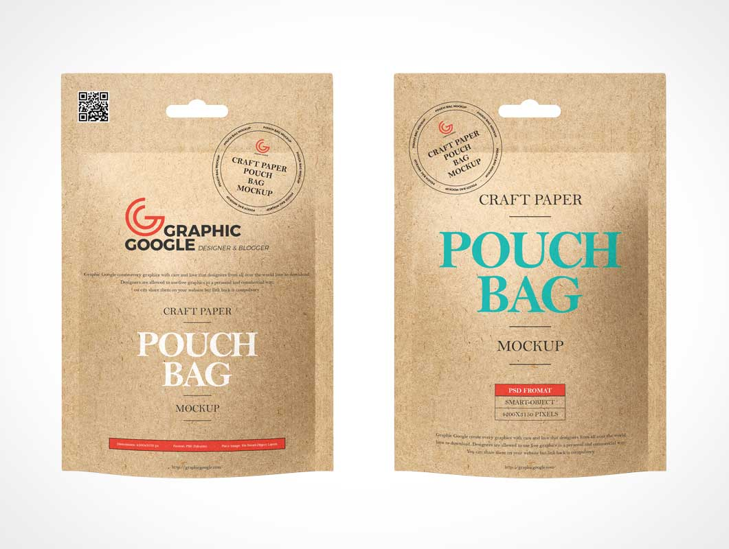 Kraft Paper Sachet Packaging PSD Mockup