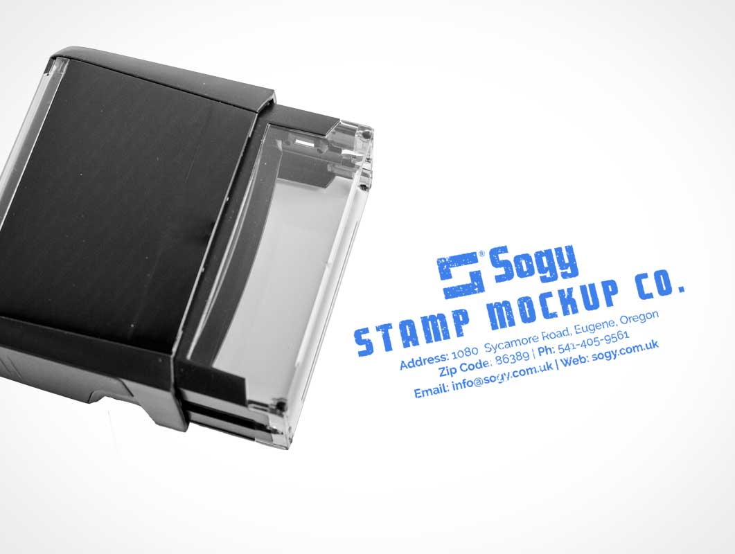 Self Inking Corporate Stamp PSD Mockup