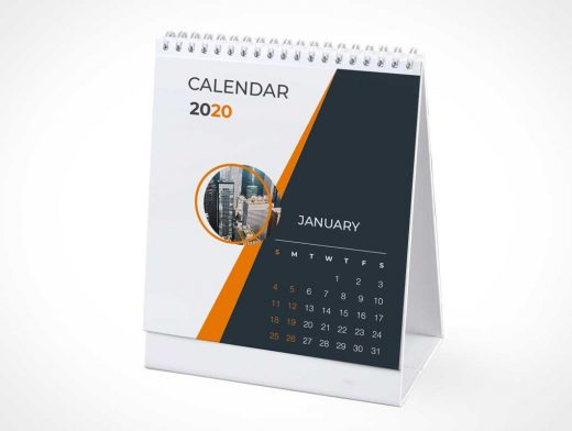 Stationery Corporate Tent Calendar PSD Mockup