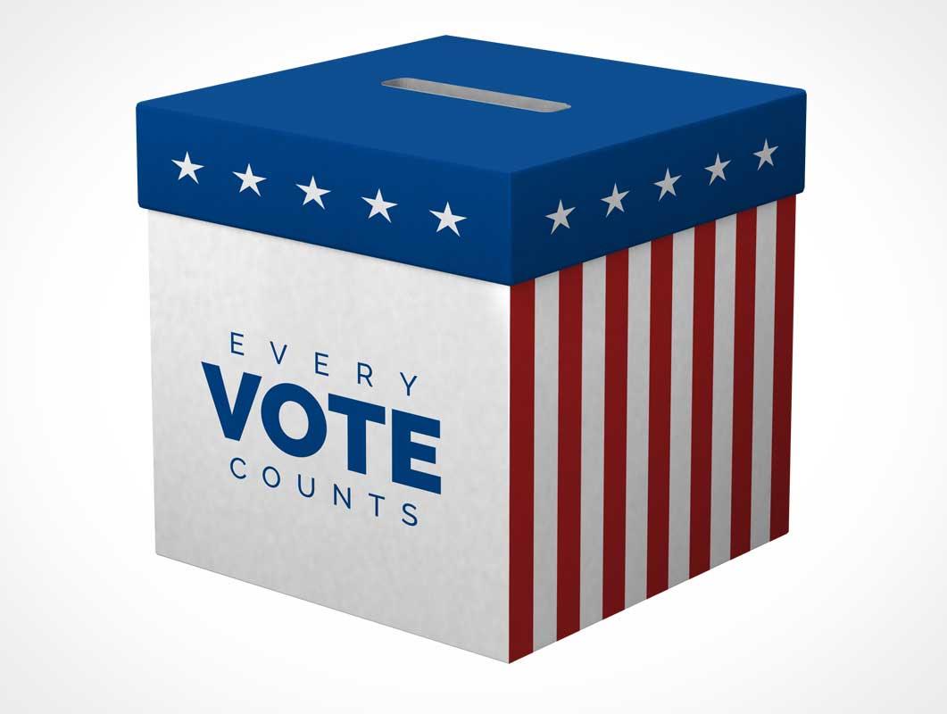 Vote Ballot Box PSD Mockup