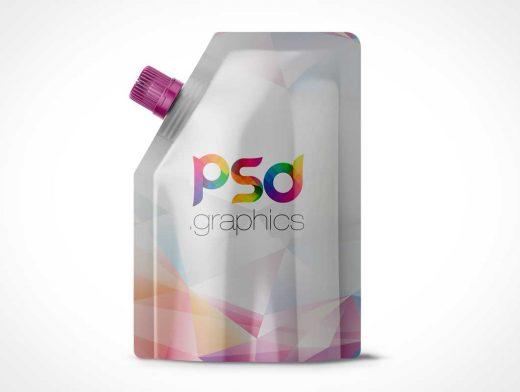 Foil Doypack Beverage & Spout PSD Mockup