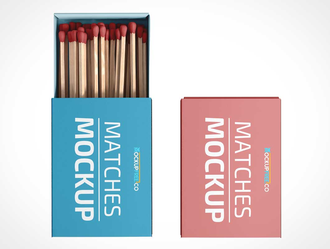 Match Stick Box PSD Mockup