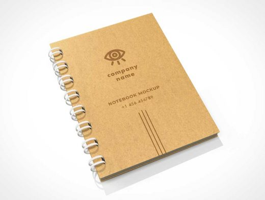 Ring Bound Sketch Notepad PSD Mockups