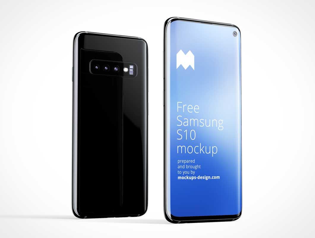 Samsung Galaxy S10 Smartphone Mobile PSD Mockup
