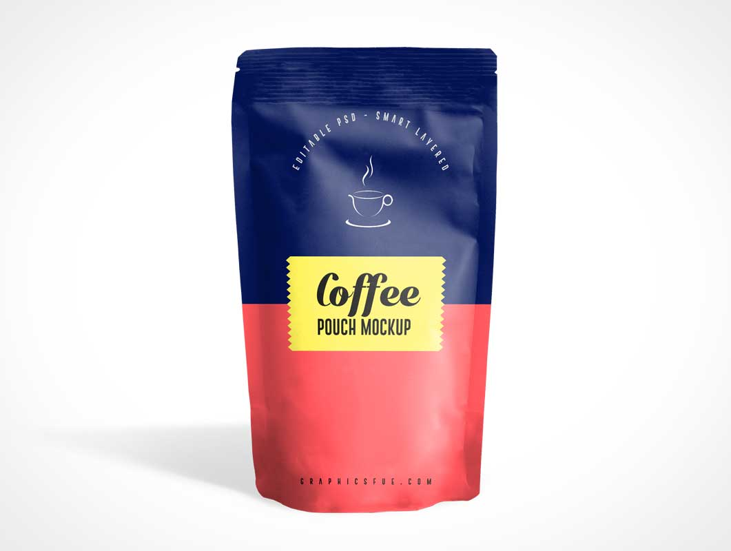 Sealed Ground Coffee Pouch PSD Mockup