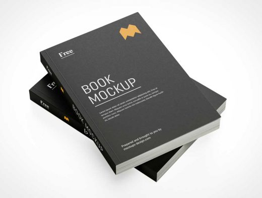 Stacked Softcover Books PSD Mockup