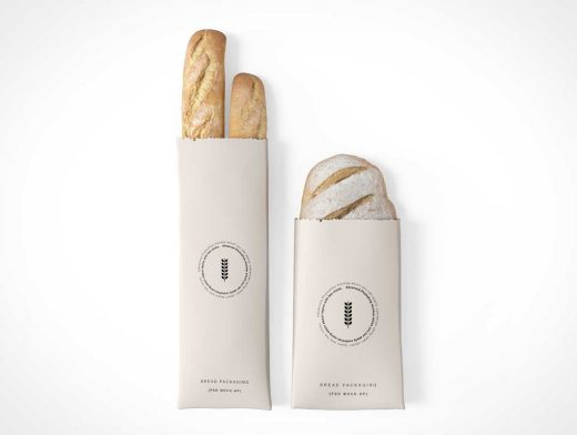 Bread Bag Packaging PSD Mockup