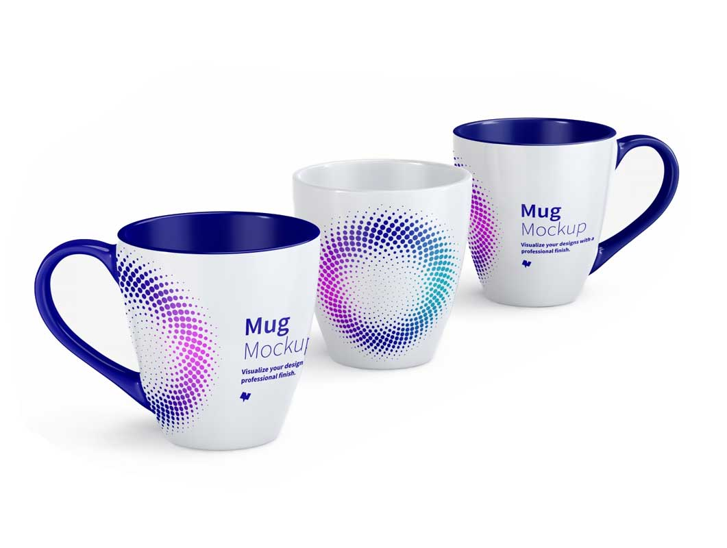 Ceramic Cairngorm Coffee Mug PSD Mockup