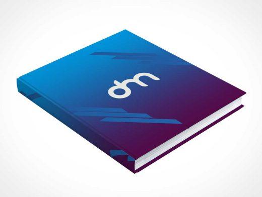 Closed Hardcover Book PSD Mockup