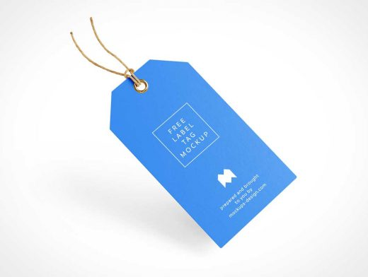 Clothing Label Tag & Grommet PSD Mockup