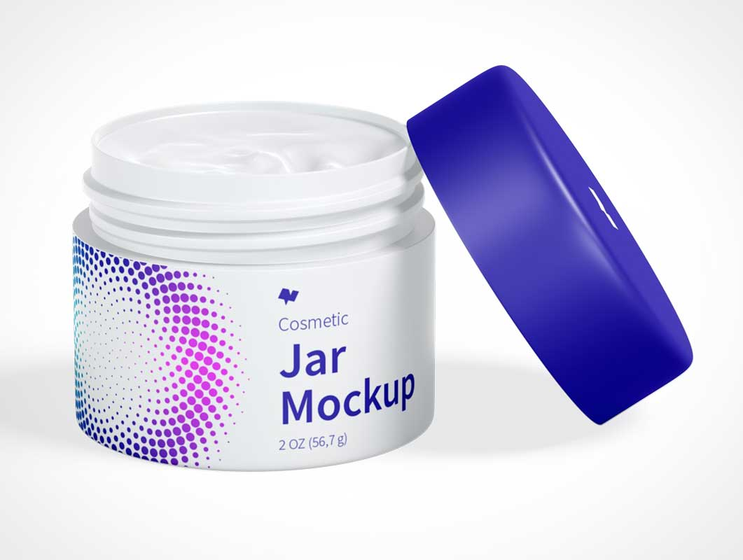 Cosmetic Jar HDPE Wide Mouth PSD Mockup