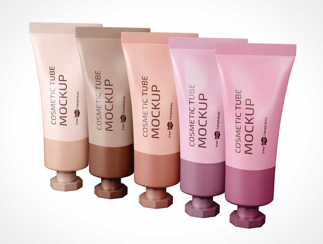 Cosmetics Squeeze Tubes PSD Mockup