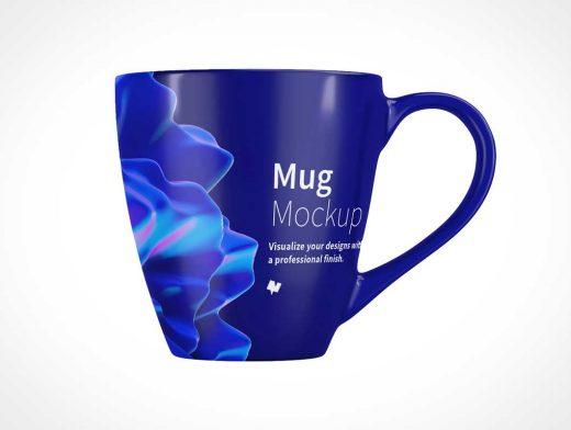 Hot Coffee Mug PSD Mockup