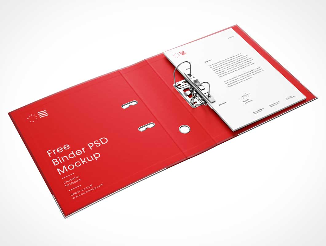 Lever Arch 2 Ring A4 Binder PSD Mockup
