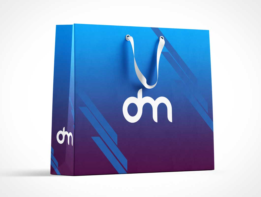 Mall Shopping Bag & String Handles PSD Mockup