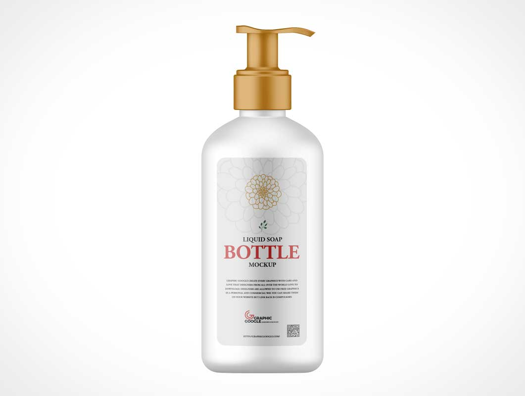 Pump Lotion Bottle PSD Mockup