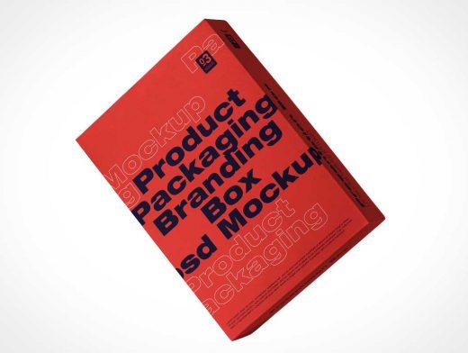 Shirt Box Packaging PSD Mockup