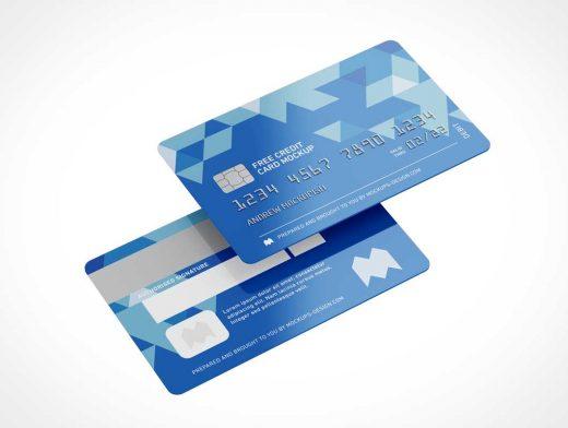 Credit Card PSD Mockup