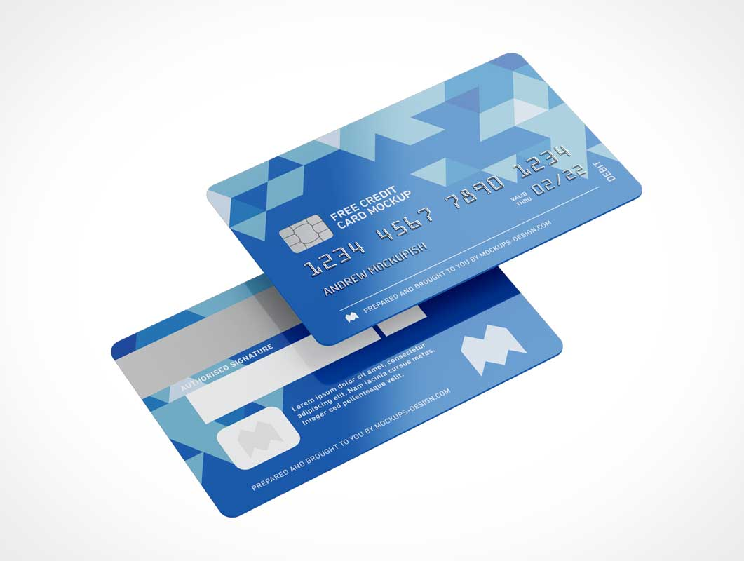 Credit Card PSD Mockup