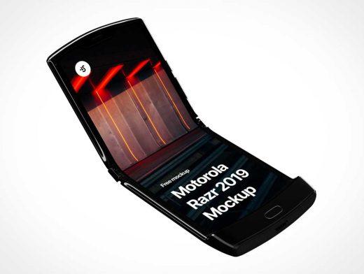 Folding Motorola Razr Smartphone PSD Mockup