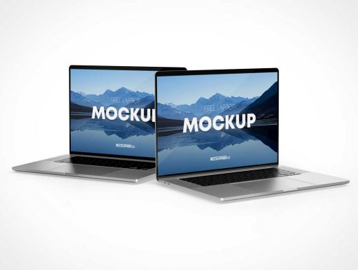 MacBook Laptops PSD Mockup
