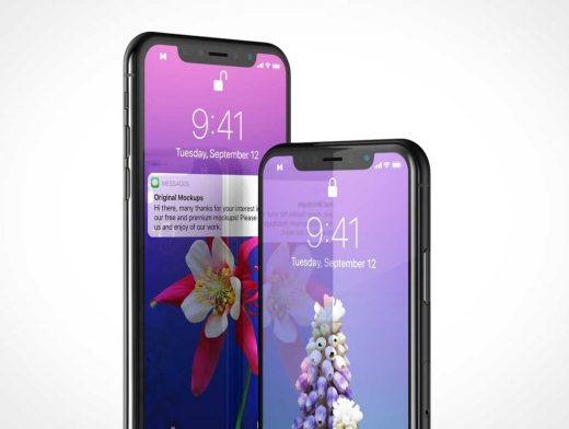 Mobile iPhone X PSD Mockup