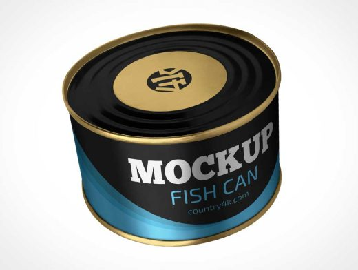 Tuna Fish Can PSD Mockup