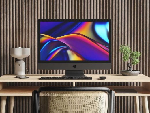 iMac Pro Workspace PSD Mockup