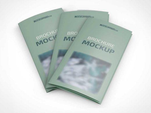 3 Panel Brochure PSD Mockups