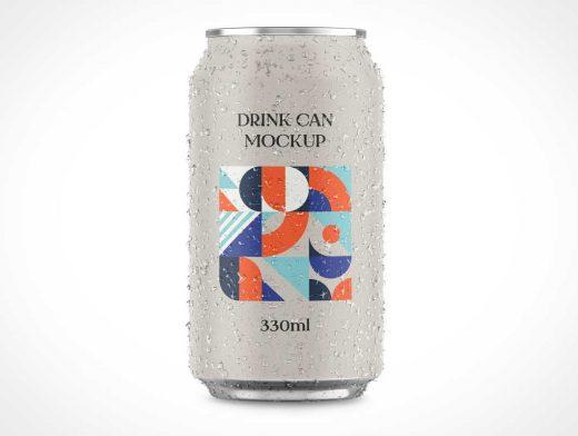 Aluminium Drink Soda Can PSD Mockup