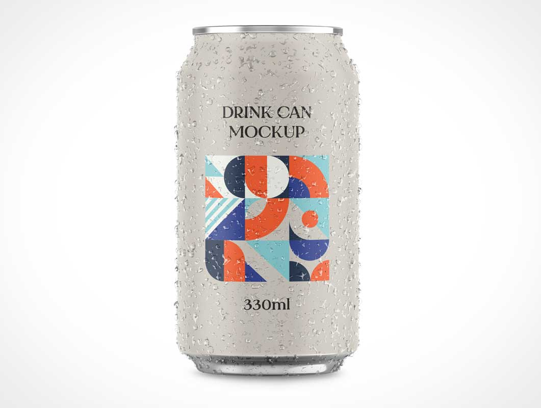 Aluminium Drink Soda Can PSD Mockup