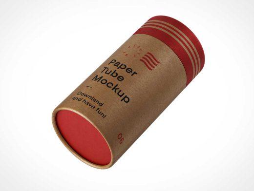 Cardboard Mailer Tube PSD Mockup