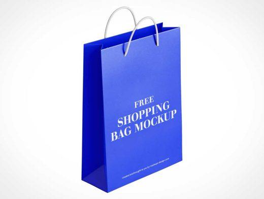 Foldable Gift Shopping Bag PSD Mockup