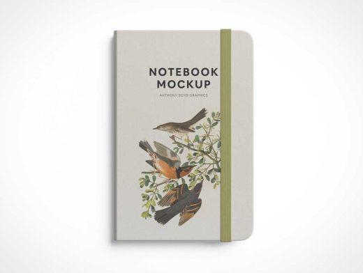 Hardcover Classic Moleskine Notepad PSD Mockup