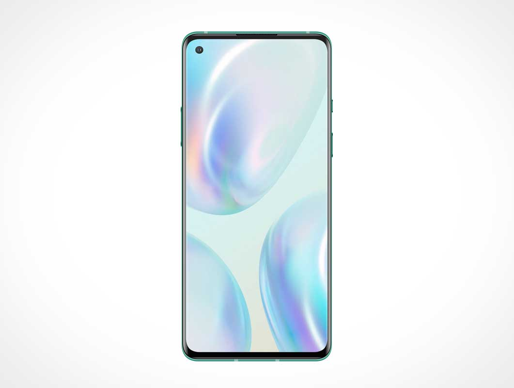OnePlus 8 Pro Smartphone Front Display PSD Mockup