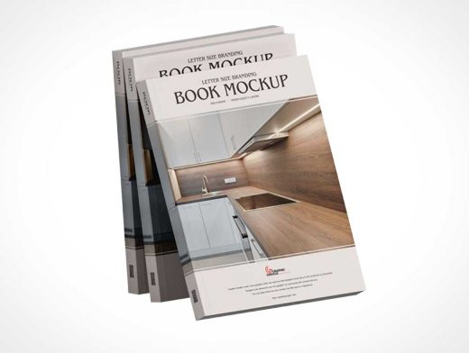 Paperback Softcover Book PSD Mockup