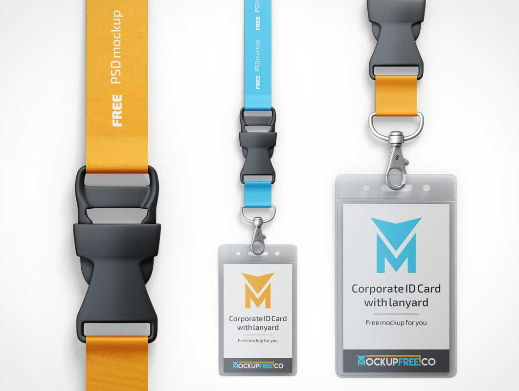 Plasticized-Event-Badges-Lanyards-PSD-Mockup