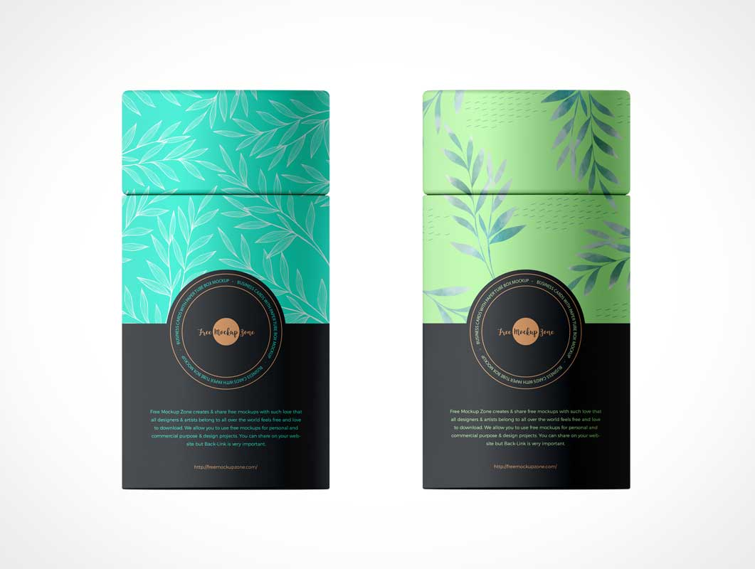 Short Paper Tube Container PSD Mockup