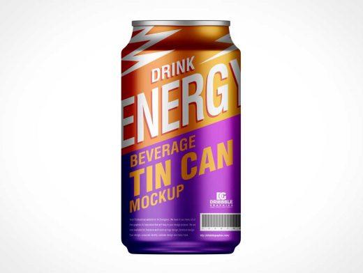 Soda Tin Can Beverage PSD Mockup