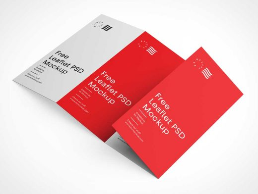 4 Panel Leaflet Brochure PSD Mockup