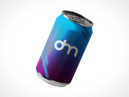 Floating Carbonated Soda Can PSD Mockup