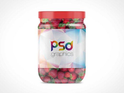 Glass Jam Jar PSD Mockup
