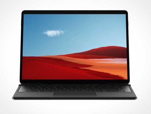 Microsoft Surface Pro X Tablet PSD Mockup